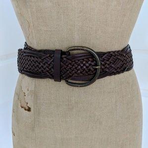 Woven Bonded Leather Belt Size Medium